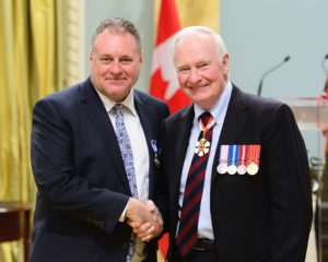 Jowi Taylor, M.S.M. His Excellency the Right Honourable David Johnston